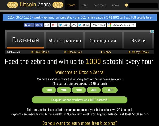 Зебра биткоин сайт forex заработать рынке форекс